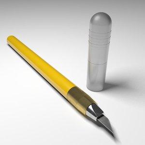 3d olfa design knife model