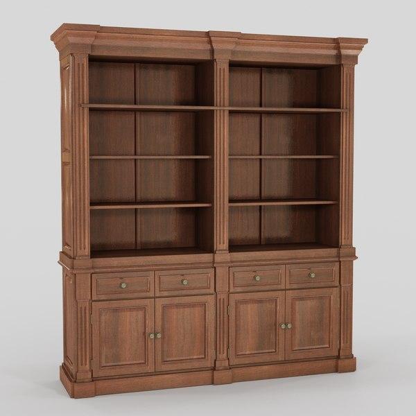 classic bookcase 3d model