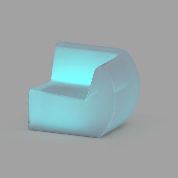 led chair 3d model