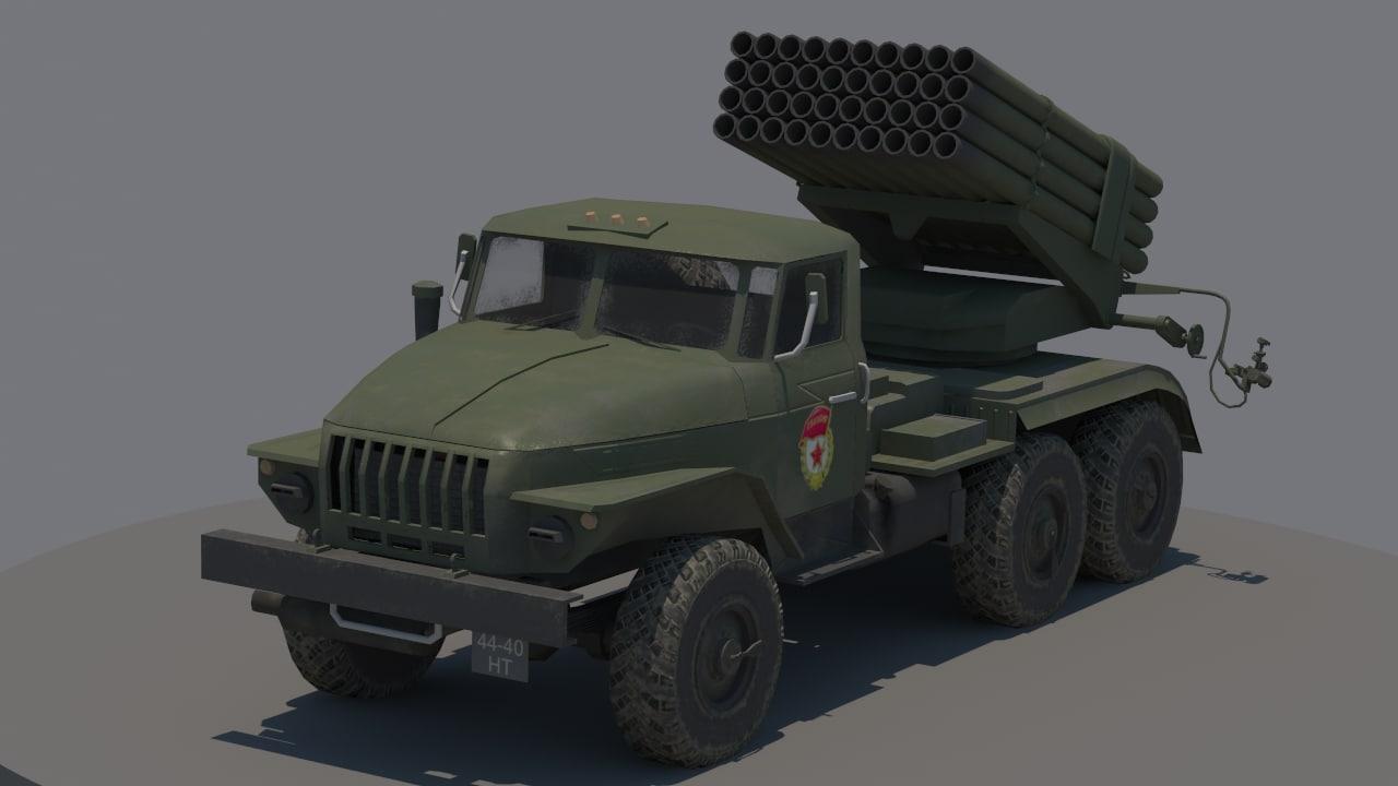 ural bm-21 3d max