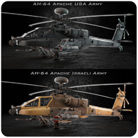 ah-64 apache usa israeli 3d model