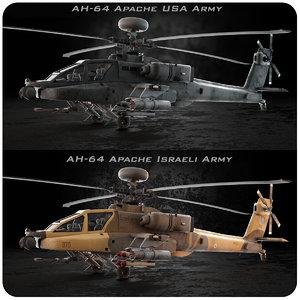 3d model ah-64 apache usa israeli