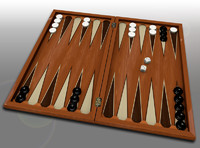 backgammon set board obj