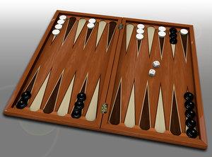 backgammon set board obj