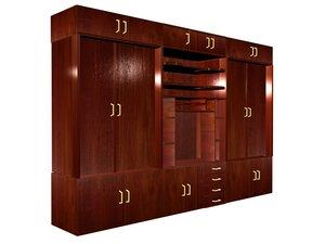 3d cupboard model