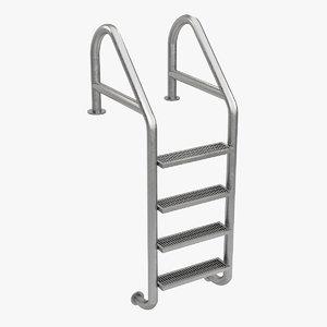 swimming pool ladder obj
