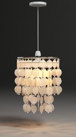 Capiz Pendant 3 Tier Natural