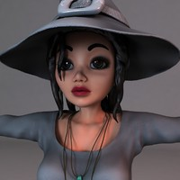 3d witch body dresses model