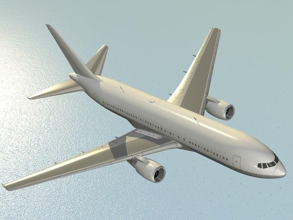 3ds boeing 767-200 er airliner