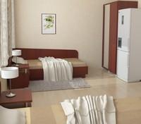 3d model interior hotel room furniture