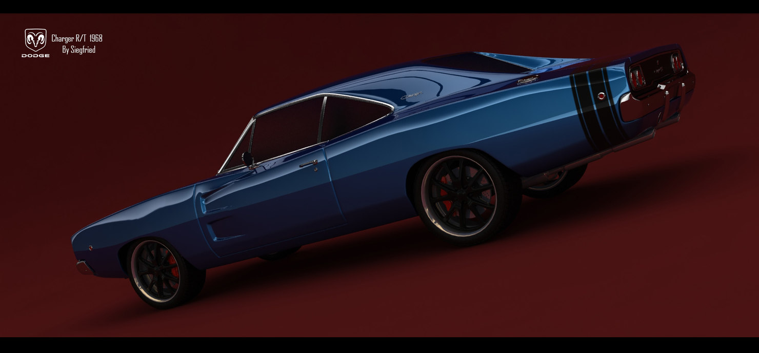 3ds max dodge charger r t
