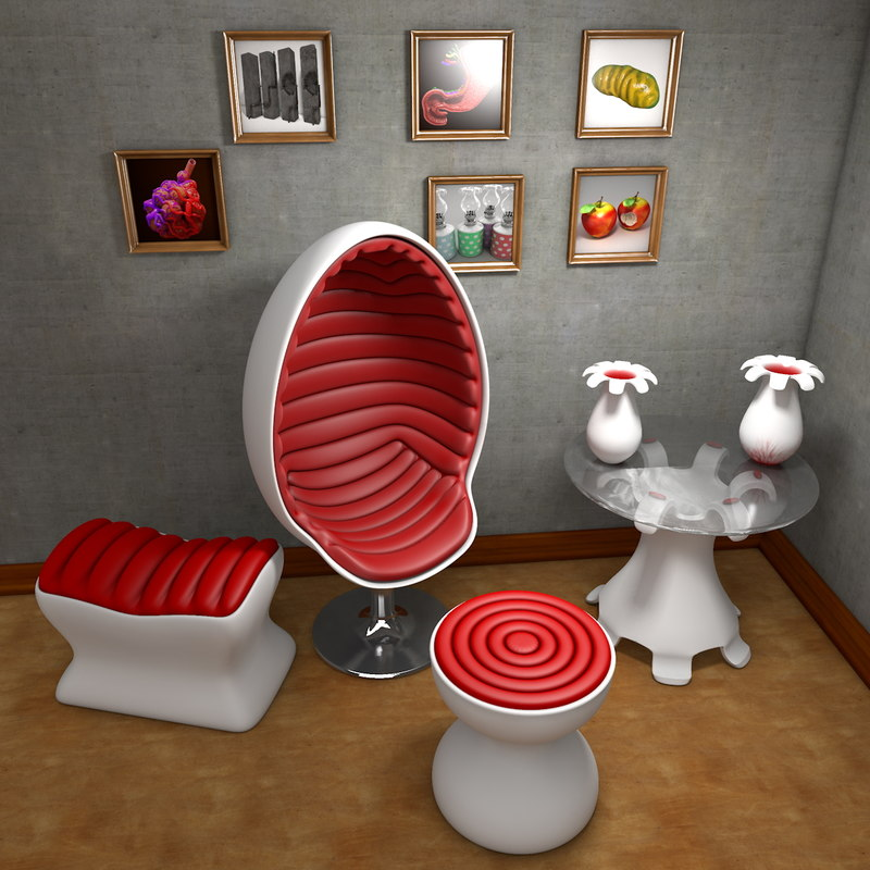 Space Age Design.Space Age Design Furniture Suite Egg Chair