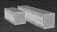 20 40 foot containers 3d max