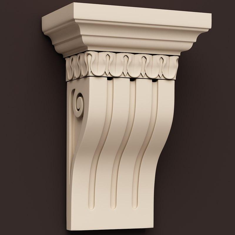 classical decoration interior 3d model