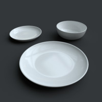crockery plate bowl 3d model