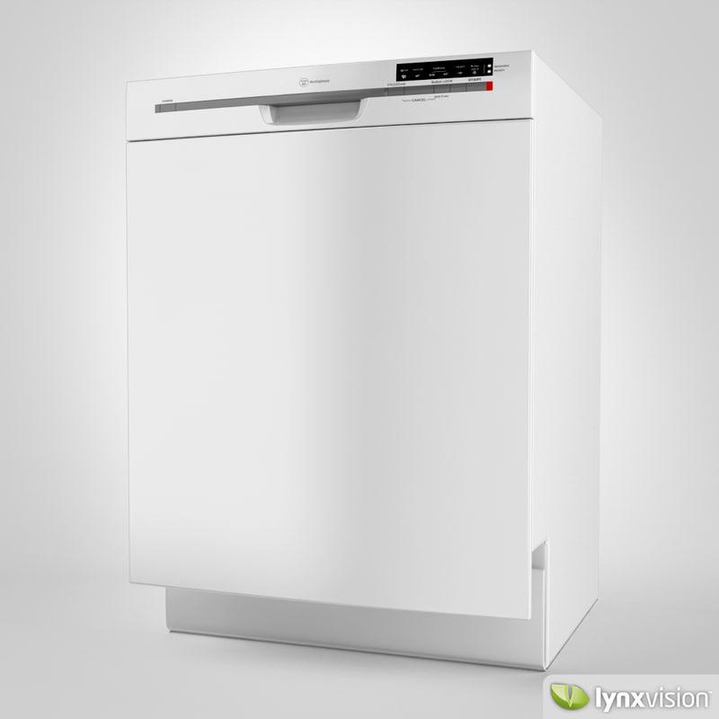 3d model of westinghouse dishwasher