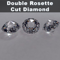 double rosette cut diamond 3d 3ds