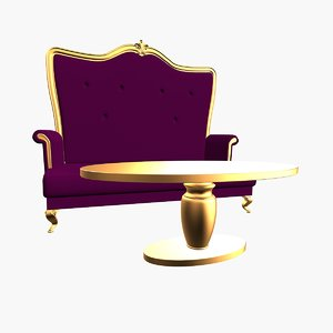 3ds max drawing room sofa table