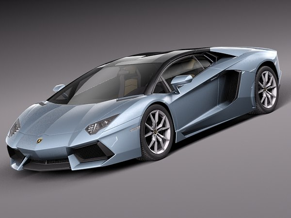 3d model lamborghini aventador lp700-4 roadster
