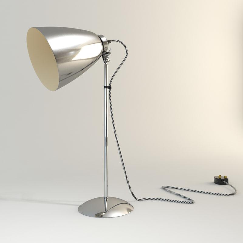 3d max hector metal desk lamp