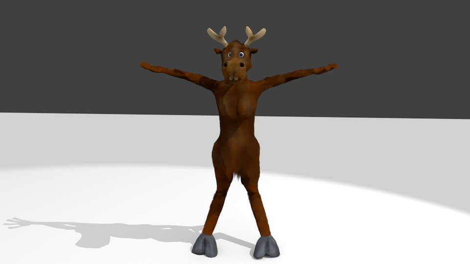 3d model of humanoid moose