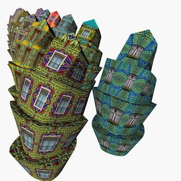 building structure 3d obj