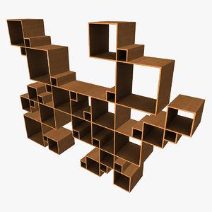 random square shelfing x
