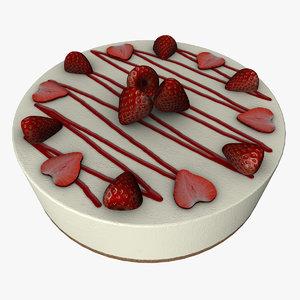 strawberry cheese cake obj