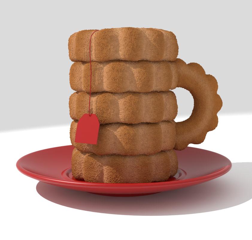 3d tea cup cookies