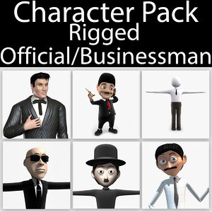 3d model character pack 09 rigged