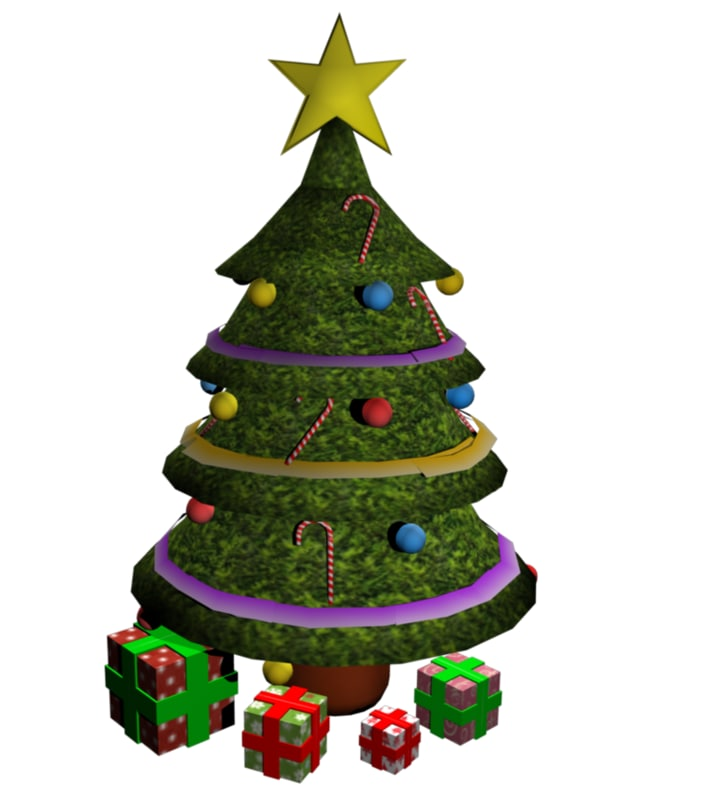 christmas tree presents obj