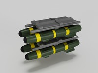 3d model hellfire missile launcher agm