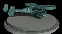 3d fighter gunship avatar helicopter model