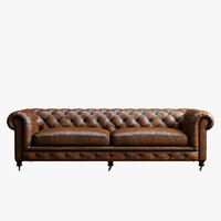chesterfield sofa 3d obj