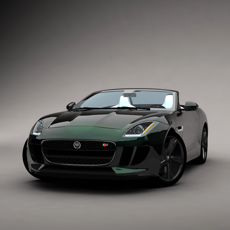 3d ftype car sport model