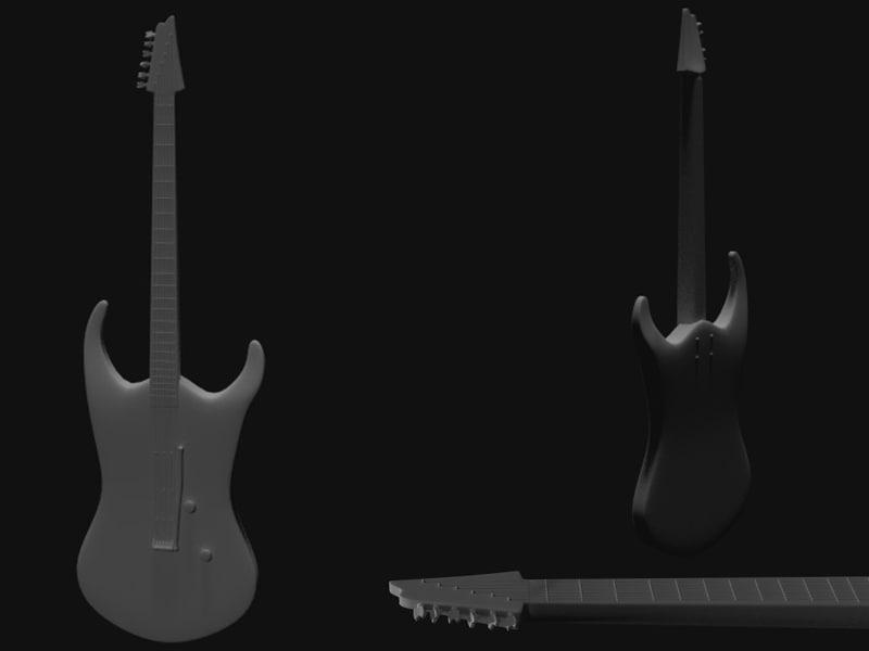 3d model electric guitar guitarra