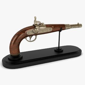 vintage gun 3d dxf