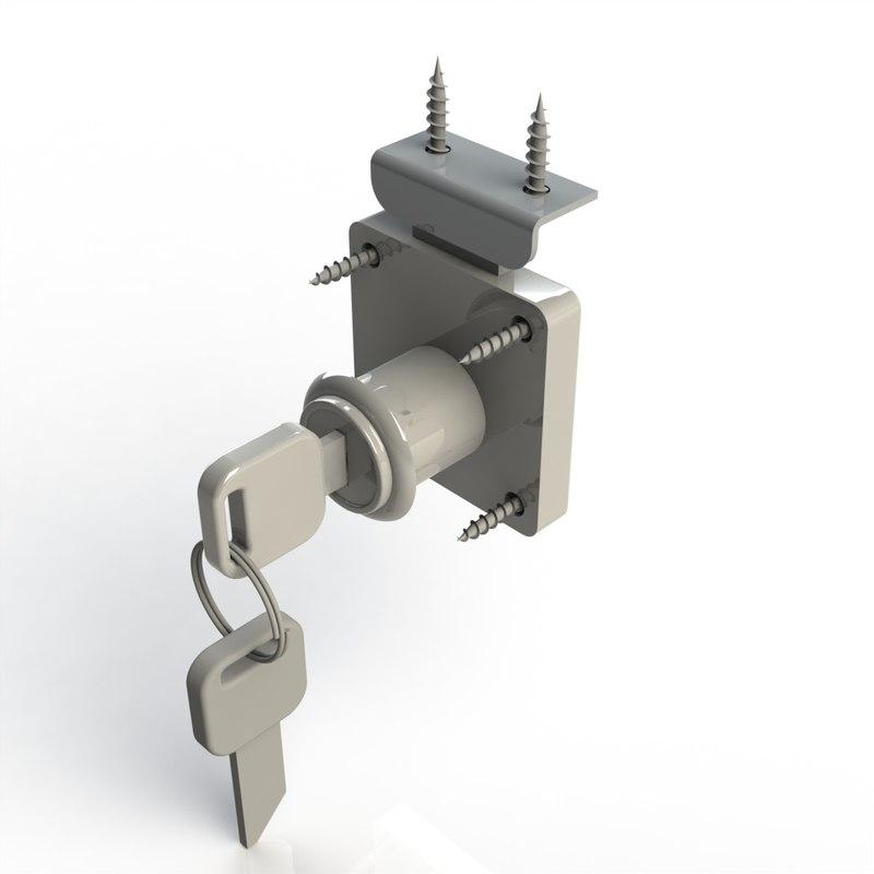 3d model castle furniture lock