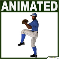 Black Baseball Player CG (PITCHER)