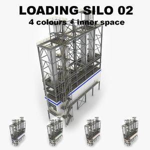 3d model industrial loading silo 02