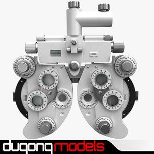 3d c4d dugm04 phoropter