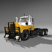 3d r600 semi truck model