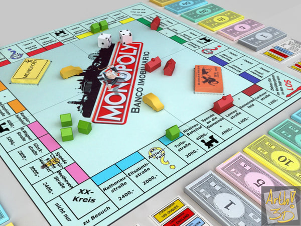 monopoly jogo 3d model