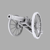 3d gribeauval cannon