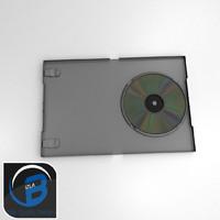 silver dvd platinum case 3d obj