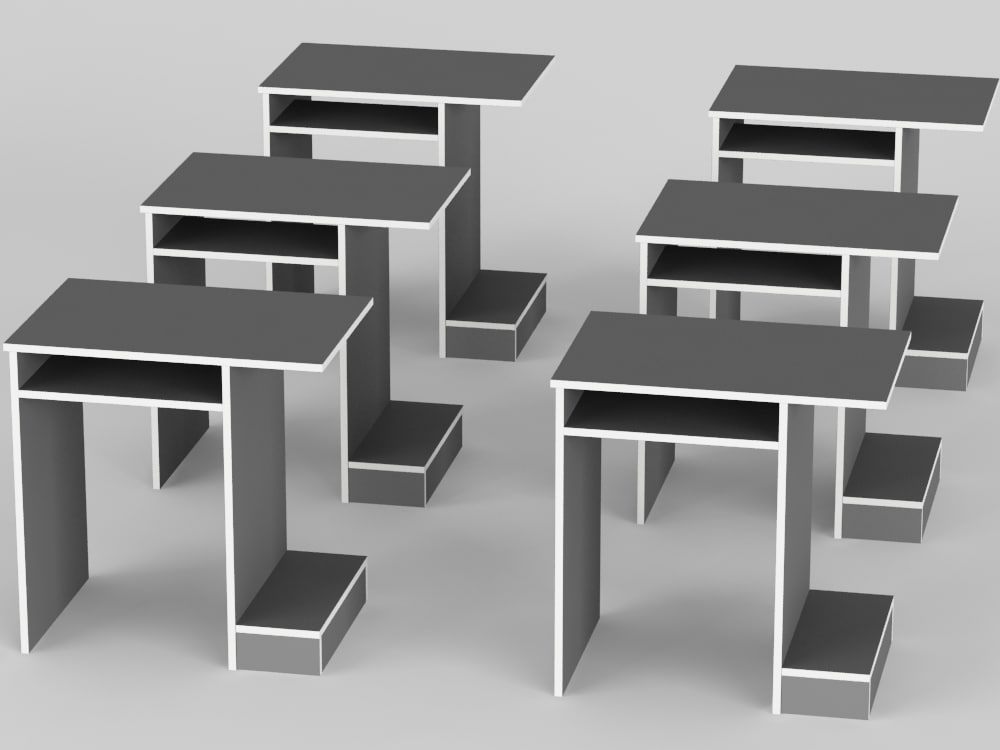 3ds max computer table