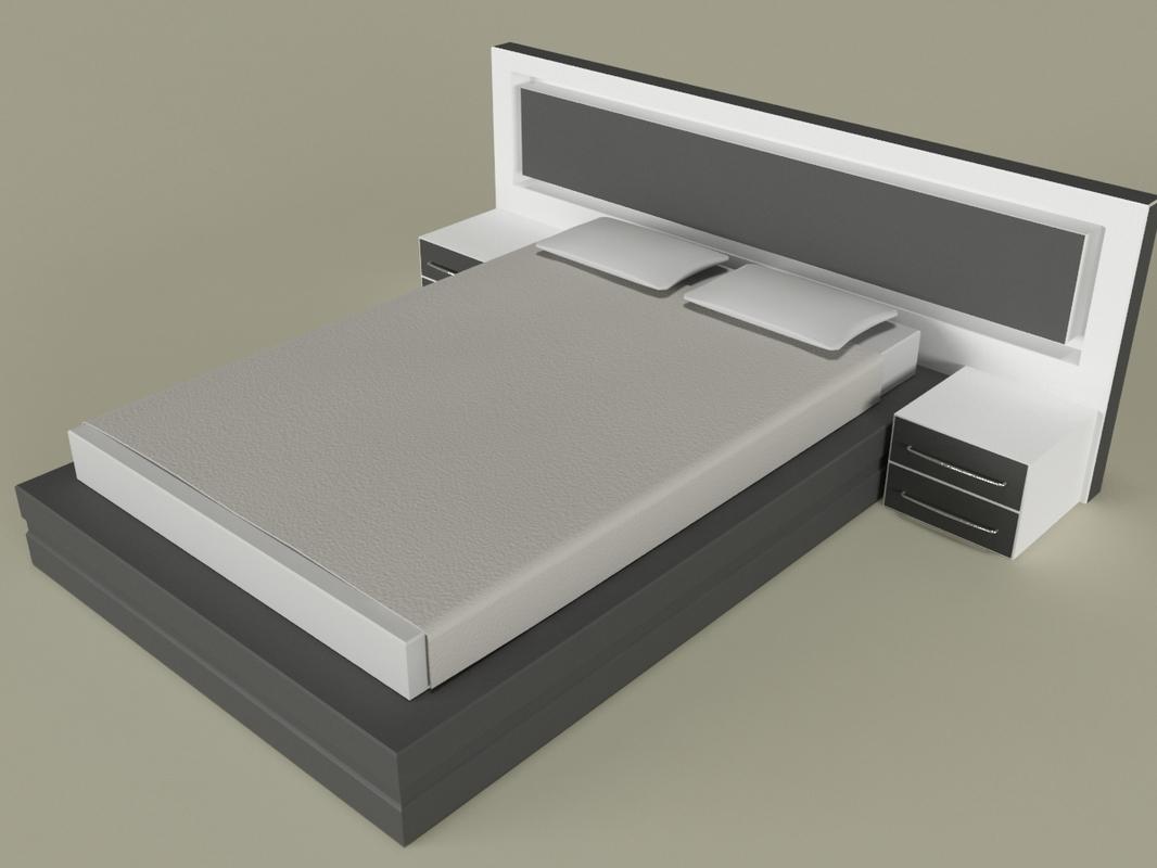 3d modern bedroom design model