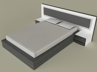 3d modern bedroom design model