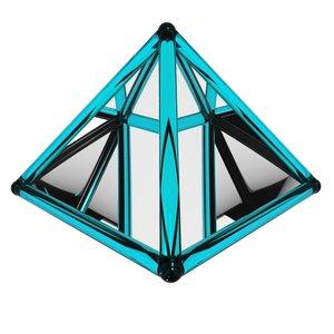 3d model pyramid spinning loader