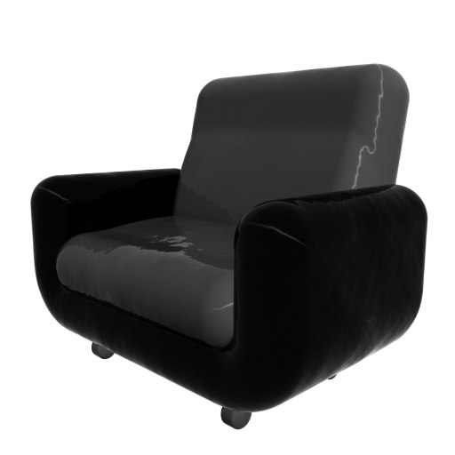 3d model armchair loader
